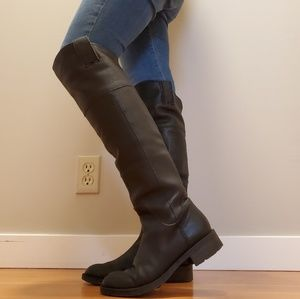 Enzo Angiolini black leather tall riding boots